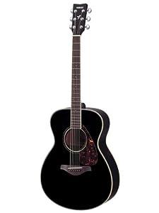 Yamaha FS720S Small Body Solid Top Acoustic Guitar - Mahogany, Black by Yamaha PAC