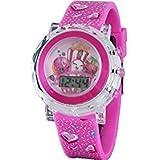 Shopkins D'lish Donut, Poppy Corn, Strawberry Kiss Girls Digital Light Up Pink Watch (KIN4051) (Color: Pink, Tamaño: One Size)