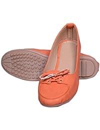 Skor Footwear Womens' Orange Resin Bellies