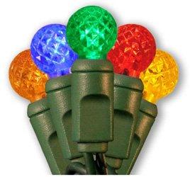 "Brilliant Brand Lighting Seasonal Decoration 50 Led Raspberry G12 Multi-Color Set W/4"" Spacing"