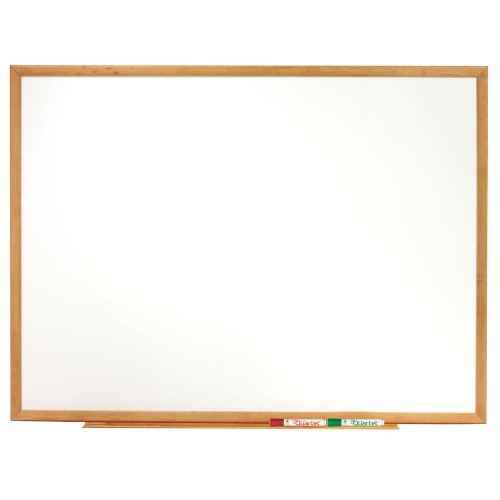 Quartet-Standard-Melamine-Dry-Erase-Boards-3-x-2-Feet-Oak-Finish-Frame-S573