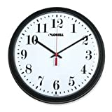 Lorell Wall Clock with Arabic Numerals, 13-1/4-Inch, Black Frame