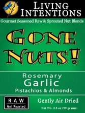Living Intentions Gone Nuts! Rosemary Garlic Pistachios & Almonds (3x3oz)