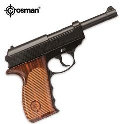 Crosman C41 - In Clam Package Metal frame pistol with ambidextrous checkered grip.