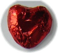 Red Foiled Chocolate Hearts 1 Lb - Wedding Favors