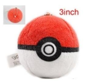 "Pokemon Pokeball Toy 3"" keychain plush - 1"