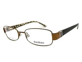 White Bebe Eyeglass Frames : BEBE Eyeglasses BB5017 003 Smoked Topaz 52MM