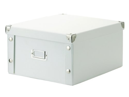 17763 Storage Box 31 X 26 X 14 Cm White Cardboard 17763 By Zeller