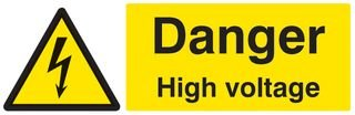SIGN, DANGER HIGH VOLTAGE, SAV BPSCA 24009M - HE31425 Di Best Price Square