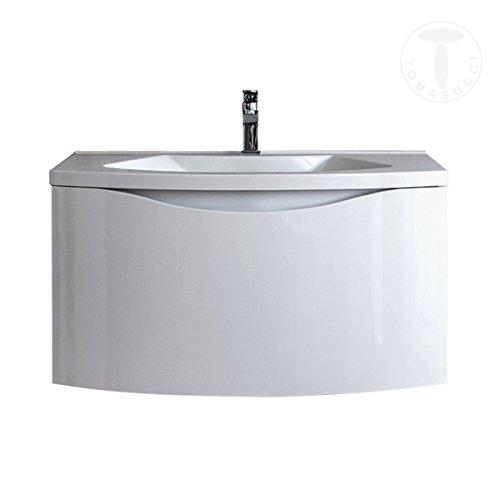 Mobile Bagno B075 Base sospesa laccato bianco lucido con lavello