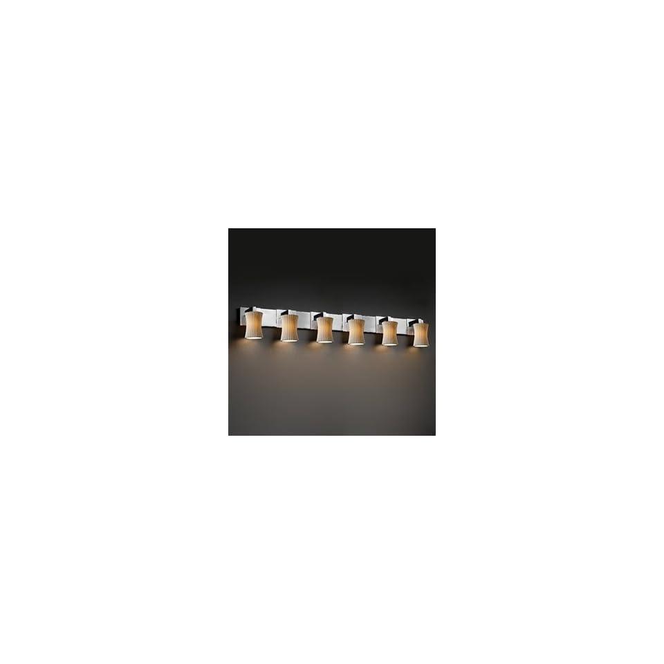 Justice Design Group POR 8926 60 OVAL BLKN 6 Light Limoges