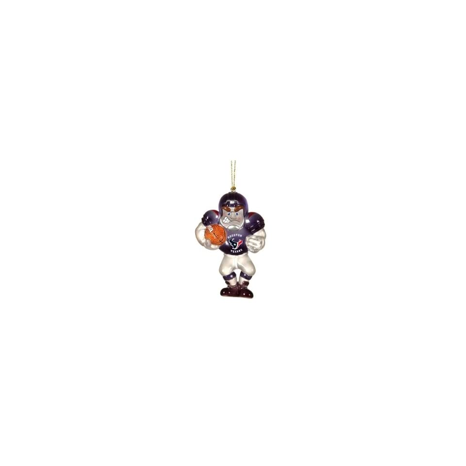 Houston Texans NFL Glass Player Ornament (4 Caucasian)