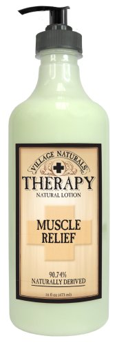 Village Naturals Therapy Muscle Relief Natural Lotion 16 fl oz