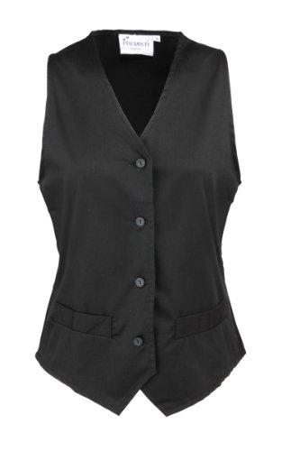 Premier Womens Hospitality Waistcoat Black 2XL