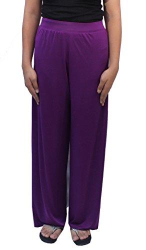 Romano Women's Purple Plazo Pant
