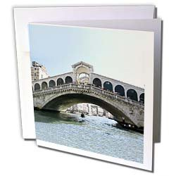Vacation Spots - Rialto Bridge - Greeting Cards-12 Greeting Cards with envelopes