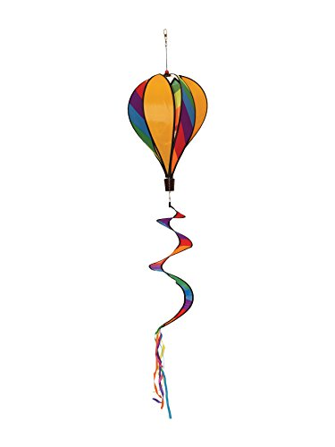 In the Breeze Rainbow Striped 6-Panel Hot Air Balloon Wind Spinner
