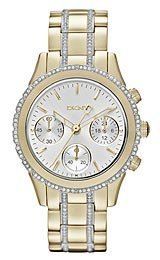 DKNY Chronograph with Glitz - Gold Women's watch #NY8707