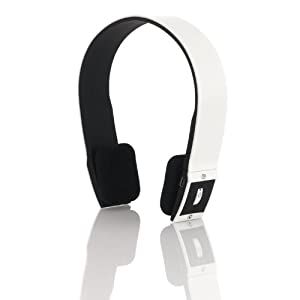 Sonixx X-Sport White Sportsband Wireless Bluetooth Headphones / Headset With Microphone and Remote - Ideal For iPad , iPhone, Blackberry, Kindle Fire HD, Google Nexus, HTC, Samsung Galaxy, ipod Touch, Skype