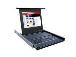 Rose Electronics Rv1-Ckvt19/Ws Rack Mounted 1U Widescreen Lcd & Keyboard Drawer, 19 Lcd, Touchpad Keyboard, Vid