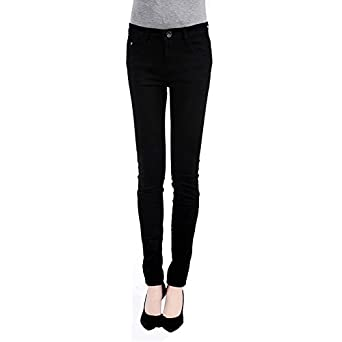 FUNOC Ladies Womens Candy Color Skinny Slim fit Stretch Leggings Trousers Jeans