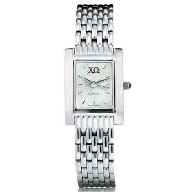 Chi Omega Women's Mother of Pearl Quad Watch with Bracelet (Chi Omega Watch compare prices)