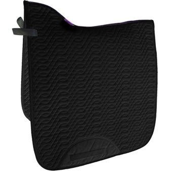 Black Dressage Saddle Pad, X-Long, High Wither, Quality Designer Series
