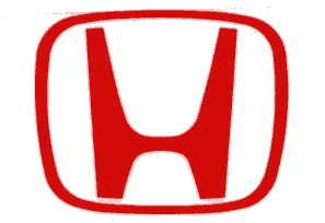HONDA ロゴステッカー レッド 61×50(mm) R-321