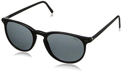 Polo PH4044 500187 Shiny Black/Gray Round Sunglasses Bundle-2 Items