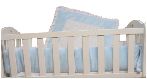 Baby Doll Bedding Snuggle Diamond Minky Cradle Bedding Set, Blue