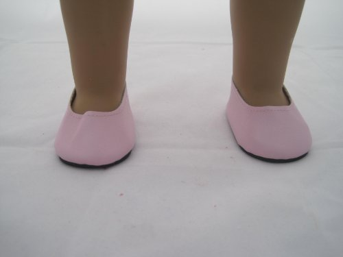Pink Matt Slip Ons for American Girl Doll and 18 Inch Dolls - 1