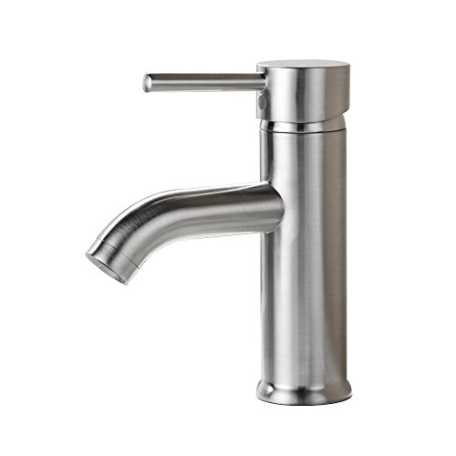 KES Modern Bathroom Sink Faucet Brushed Nickel Single Handle Wash Basin Faucet Lavatory Tap Lead-Free Brass, L310B1LF-2 (Single Bathroom Vanity Faucet compare prices)