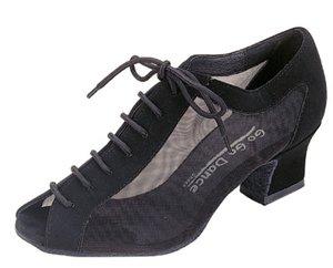 Go Go Dance Shoes Women's 4050, Black Nubuck Sandal with Mesh, Size 8.5 US (Go Go Dance Shoes compare prices)