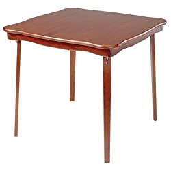 Stakmore Scalloped Edge Wood Folding Card Table