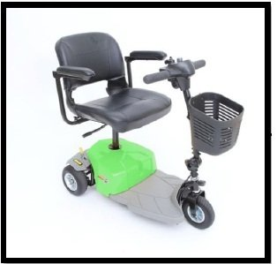 Mega Motion Mm-83 Elite 8 Green Electric 3 Wheel Power Chair Scooter