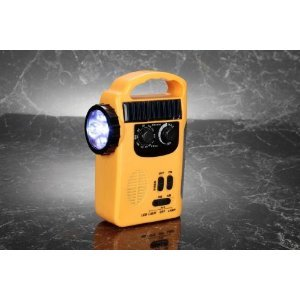 [Disaster recovery] manual rechargeable emergency light radio light [mobile charge]