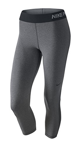 Nike Pro Cool Women's Training Capris (Medium, DARK GREY/HTR/BLACK)