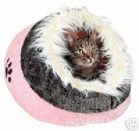 Pink Minou Cats Cosy Hooded Cave Bed Cats Kittens Pets