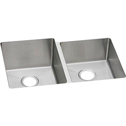 Elkao|#Elkay EFRU312010R 16 Gauge Stainless Steel 31.25 Inch x 20.5 Inch x 10 Inch Double Bowl Undermount Kitchen Sink,