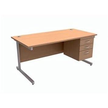 416450 - contrato Trexus Rectangular con 3-cajón del escritorio ibatch de piernas W1600xD800xH725mm haya