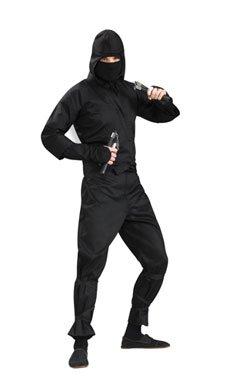 Deluxe Black Kung Fu Ninja Mens Adult Halloween