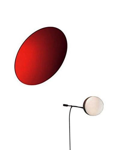 Ingo Maurer Lámpara De Pared Aka Tsuki Blanco/Rojo L 35 H 35 P 25 cm