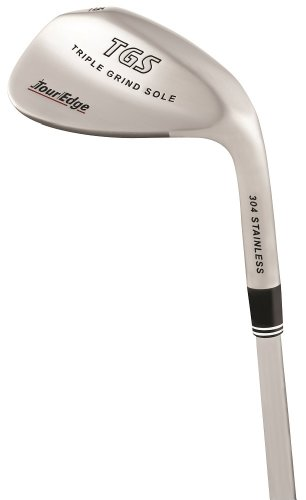 Tour Edge Men'S Tgs Triple Grind Sole Wedge (Right Hand, Stainless Steel, Uniflex, 56 Degrees, 35.25 Inches)