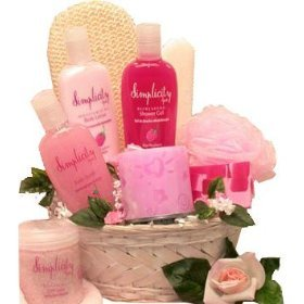 Simply Pink Spa Bath and Body Set - A Great Gift Basket For Her!