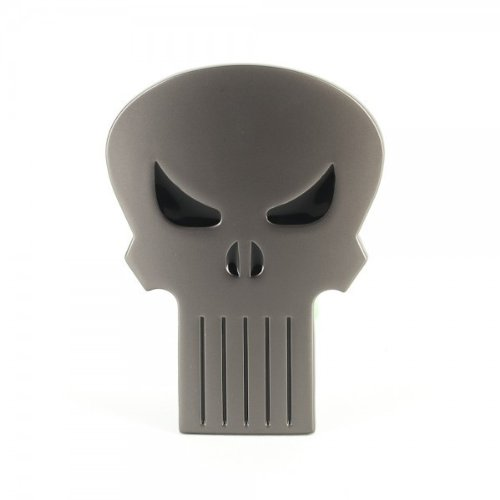 Marvel the Punisher Skull Logo Belt Buckle (Silver & Black)