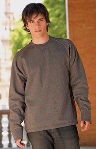 Skinni Fit Mens Raw Edge Long Sleeved Sweatshirt Black 2XL