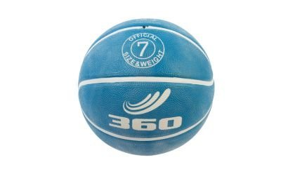 360 Athletics Playground Rubber Basketball, Size 7, Blue - 1