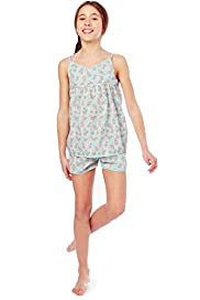 Pure Cotton Floral Camisole Shortie Pyjamas