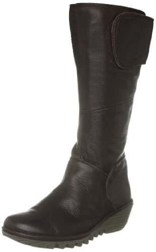 Fly London Youth Yearn K Leather Dark Brown Classic Boot P500092909 4 UK