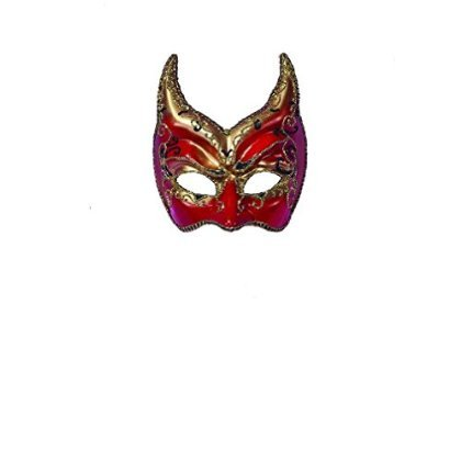 Venetian Mask Red Gold Points